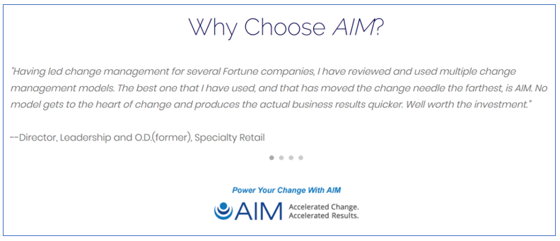 Why is AIM change management important