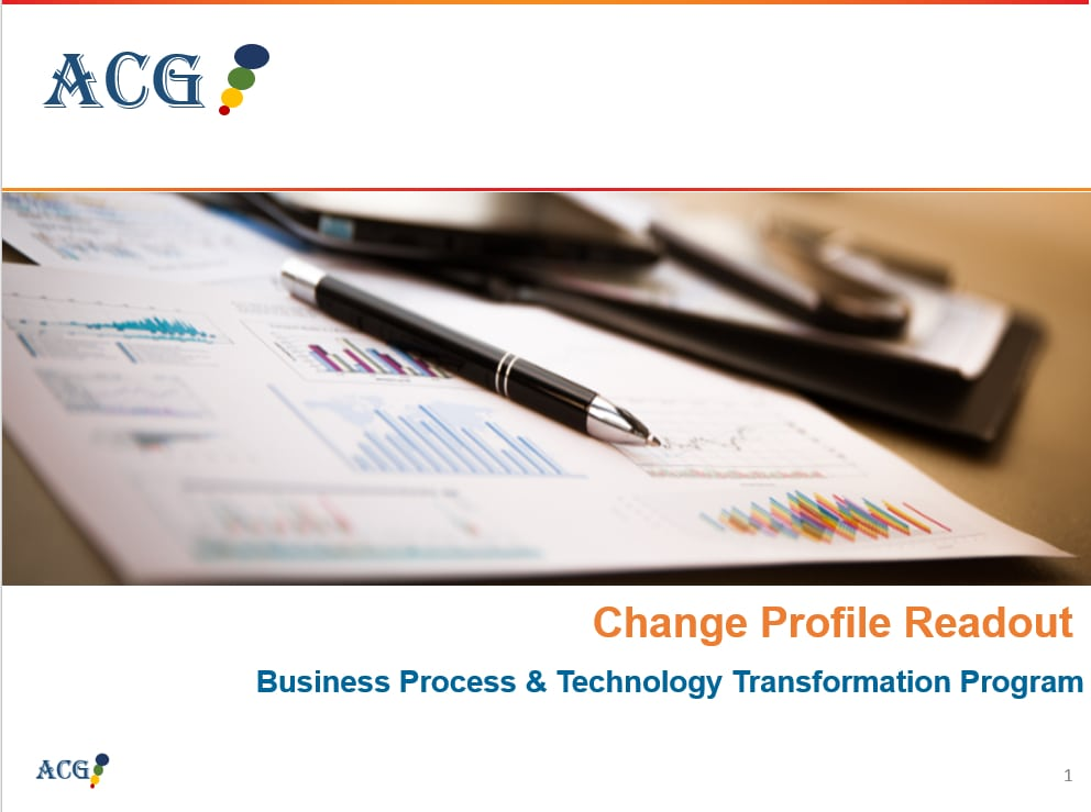Change Profile Readout Sample and Template - Business Process
