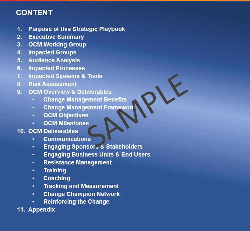 Change management strategy sample and template-Min
