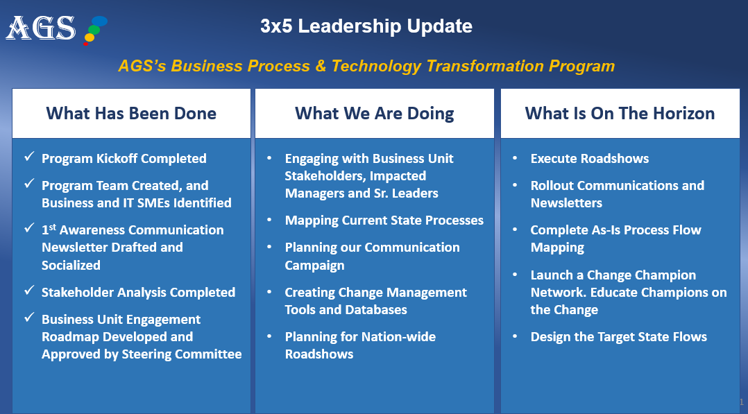 Monthly Leadership Updates