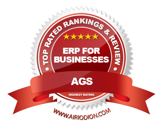 AGS Award Emblem - Top ERP for Businesses