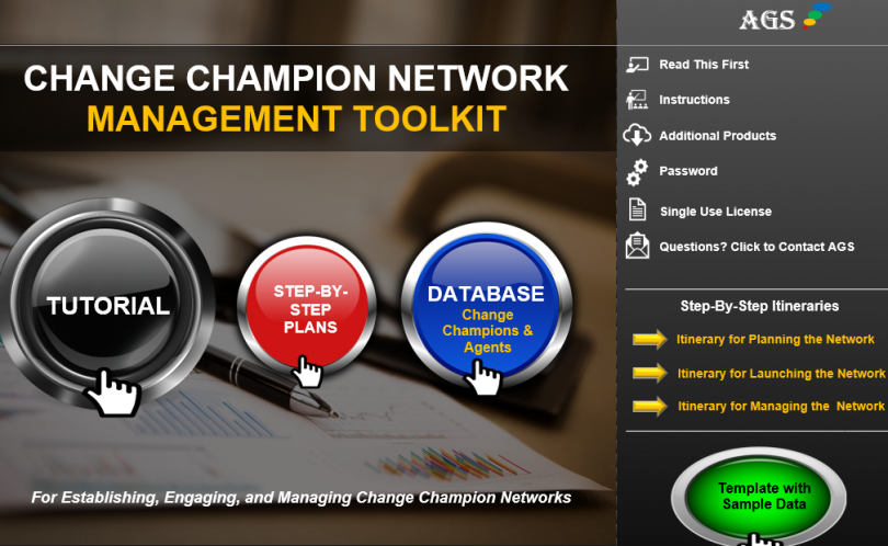 Change Champions Toolkit Tool