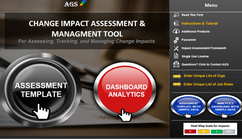 Transformational Change Impact Tool, Template, Software Solution - AGS-min