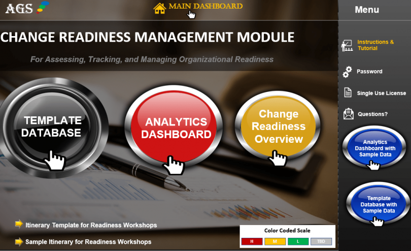 Organizational Change Readiness Software, Template, Tools-min