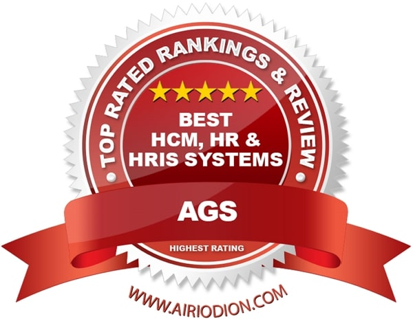 Red Award Emblem for Best HCM, HR and HRIS Systems