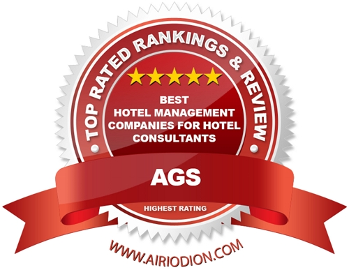 Red Award Emblem for Best Hotel Management Companies For Hotel Consultants