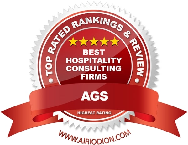 Red Award Emblem for Hospitality Consulting Firms