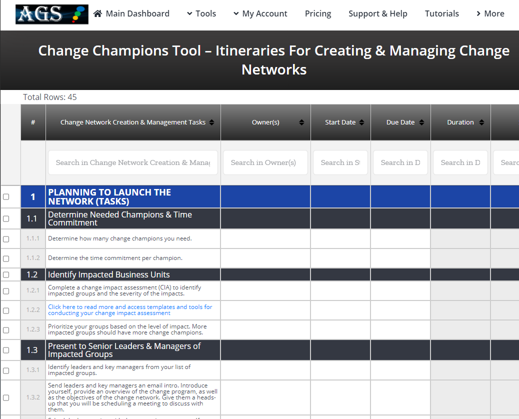 Planning for Your Change Agent and Champion Networks
