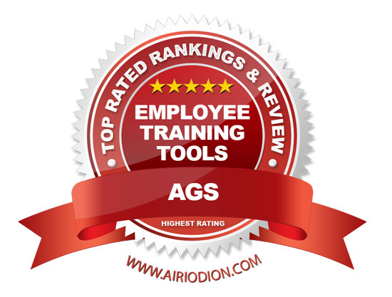 Red Award Emblem for Best Employee Training Tools