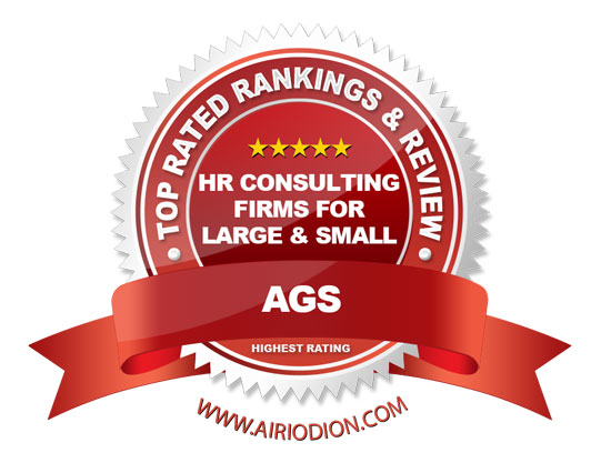 Red Award Emblem for Best HR Consulting Firms