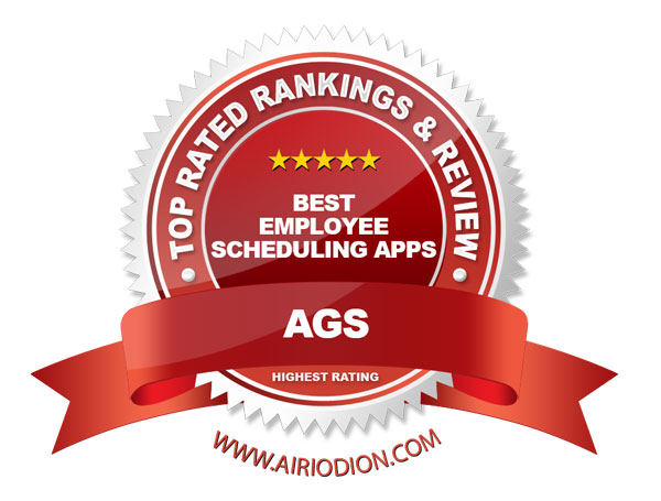 Top Ranking Employee Scheduling Apps (Red) Award Emblem