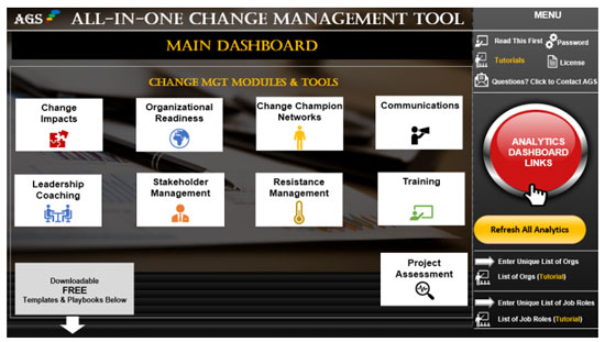 AGS Cloud All-in-One Tool - change management plan