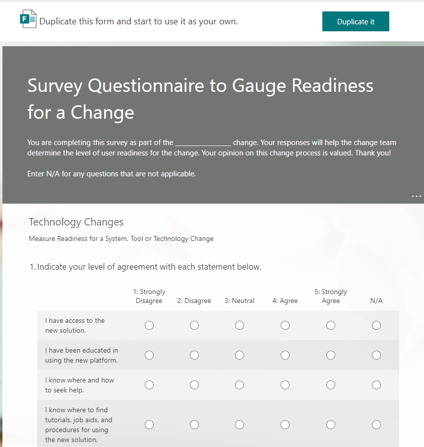 Survey Questionnaire to Gauge Readiness for a Change-min