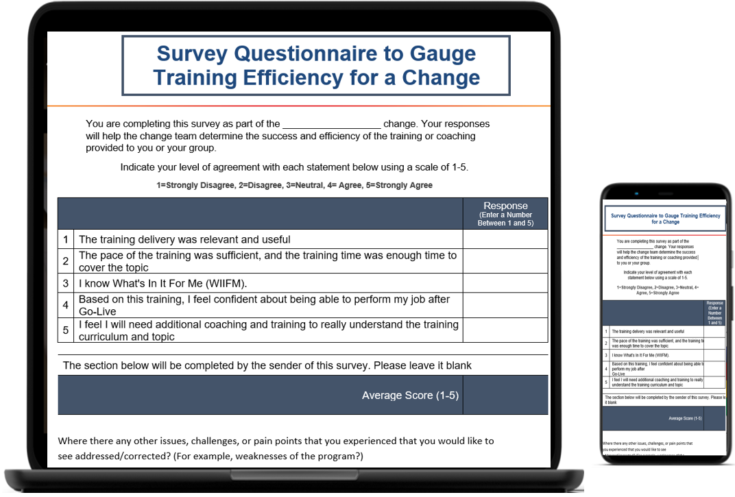 Survey questions for training effectiveness