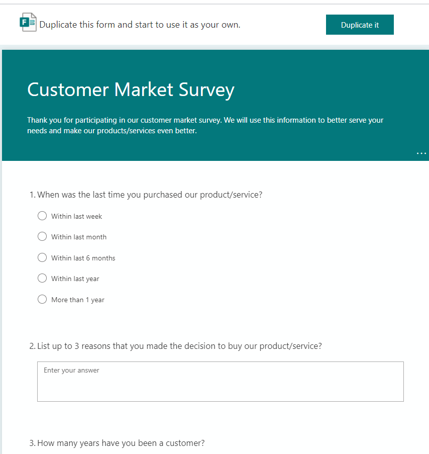 Customer Market Suvery - Markting Audience Asssessment