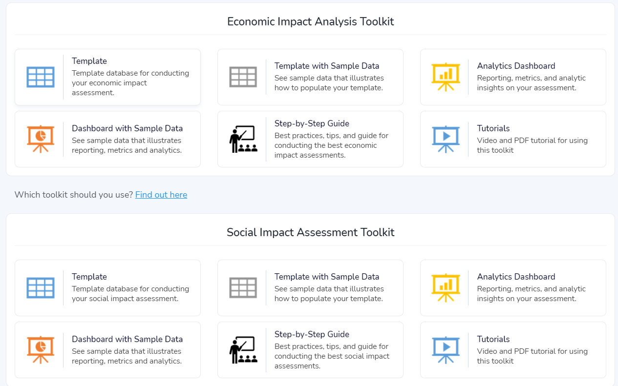 Economics Impact Assessment Toolkit