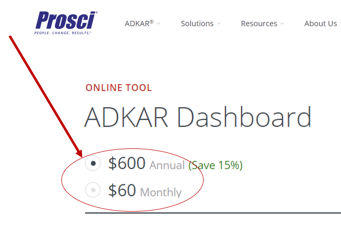 ADKAR Dashboard and Portal Prosci