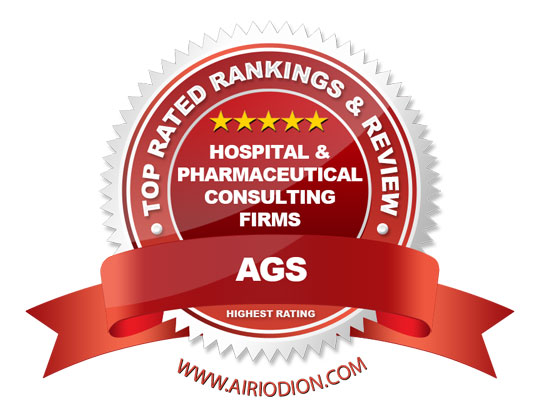 AGS Award Emblem - Hospital & Pharmaceutical Consulting Firms