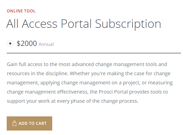 Prosci Change Management eToolkit