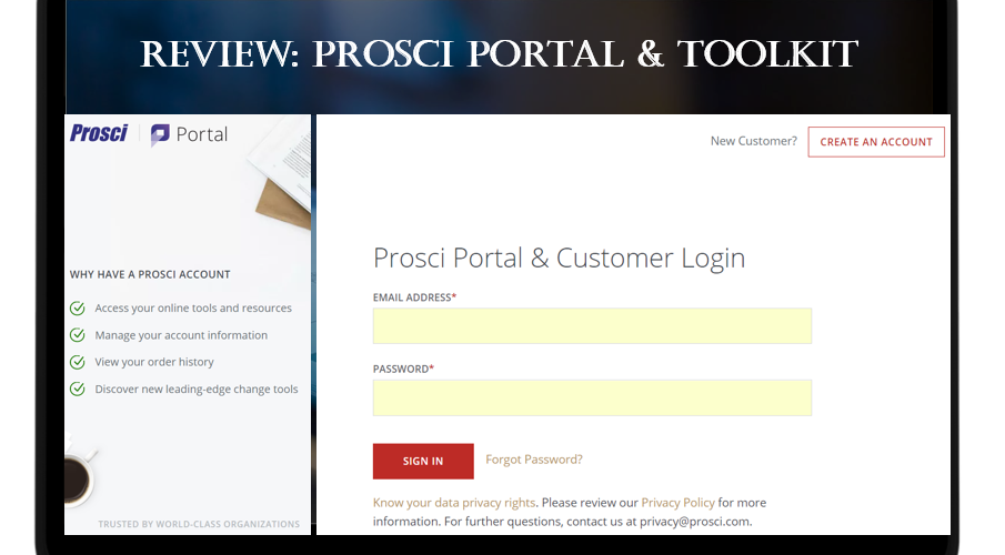 Prosci Portal and eToolkit Reviews