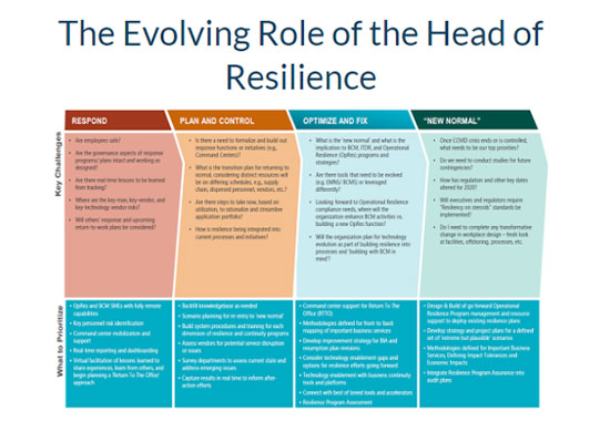 The Evolving Role of the head of resilience - strategy consulting london