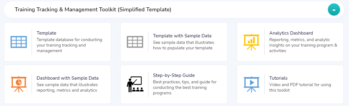 Simplified Training Tracking Template