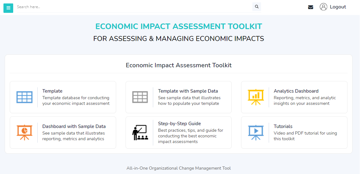 Economic Impact Assessment Tool Home Page