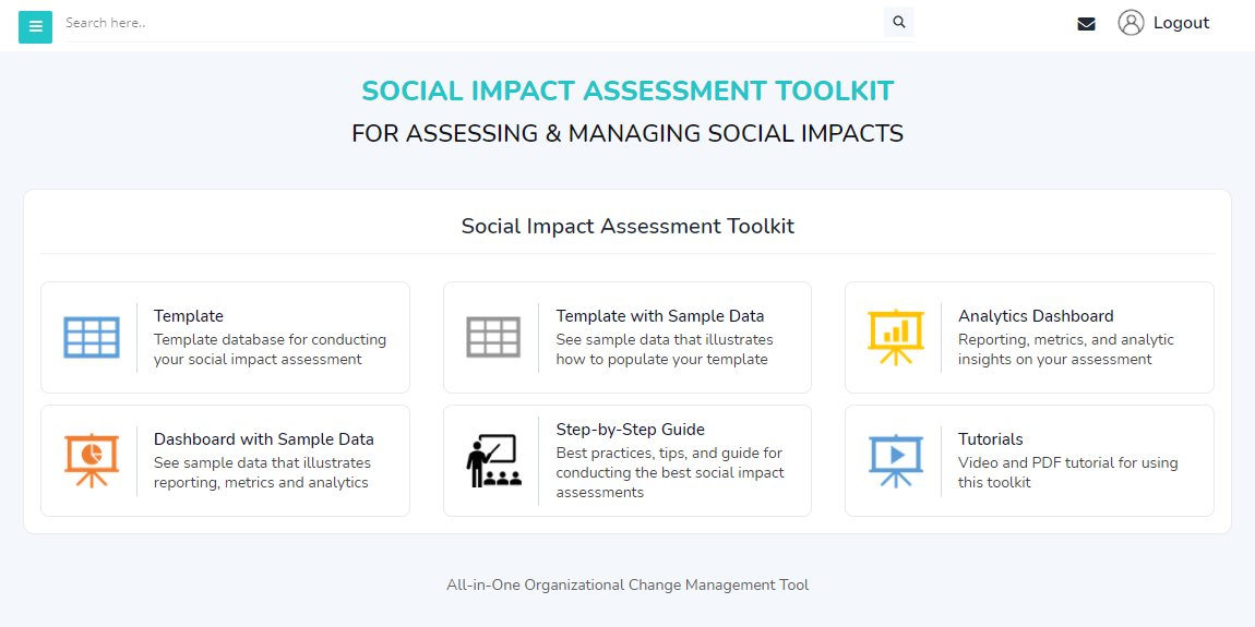 Social Impact Assessment Toolkit Home Page