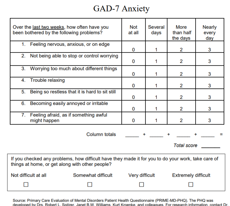 example of assessment in social work